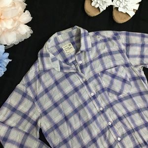 American Eagle Outfitters Boyfriend Plaid Shirt S